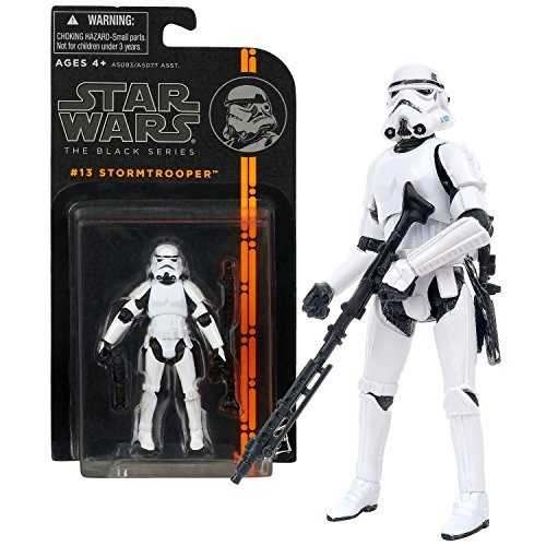"Hasbro Year 2013 Star Wars ""The Black Series"" 4 Inch Tall Action Figure - #13 STORMTROOPER with E-11 Blaster Rifle and B015DLL95K"