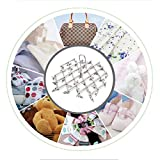 WOPS® Stainless Steel 35 Clips Folding Underwear Hanging Bra Sock Laundry Hanger Drying Clothes Rack Dryer