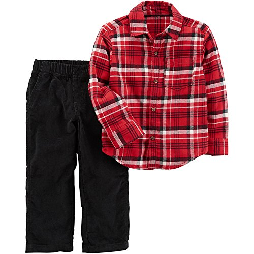 Carter's Baby Boys' 2 Piece Plaid Top and Pants Set 18 Months (2 Piece Set Carters Outfit)