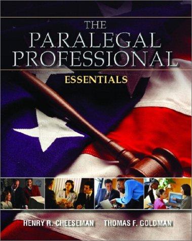 The Paralegal Professional: Essentials
