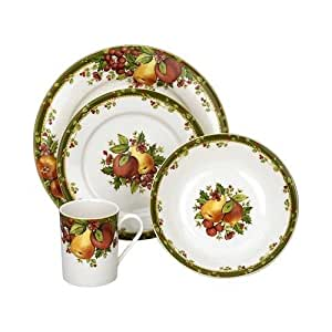 Reed & Barton Colonial Williamsburg Winter's Garland 4-Piece Dinnerware Set, Service for 1