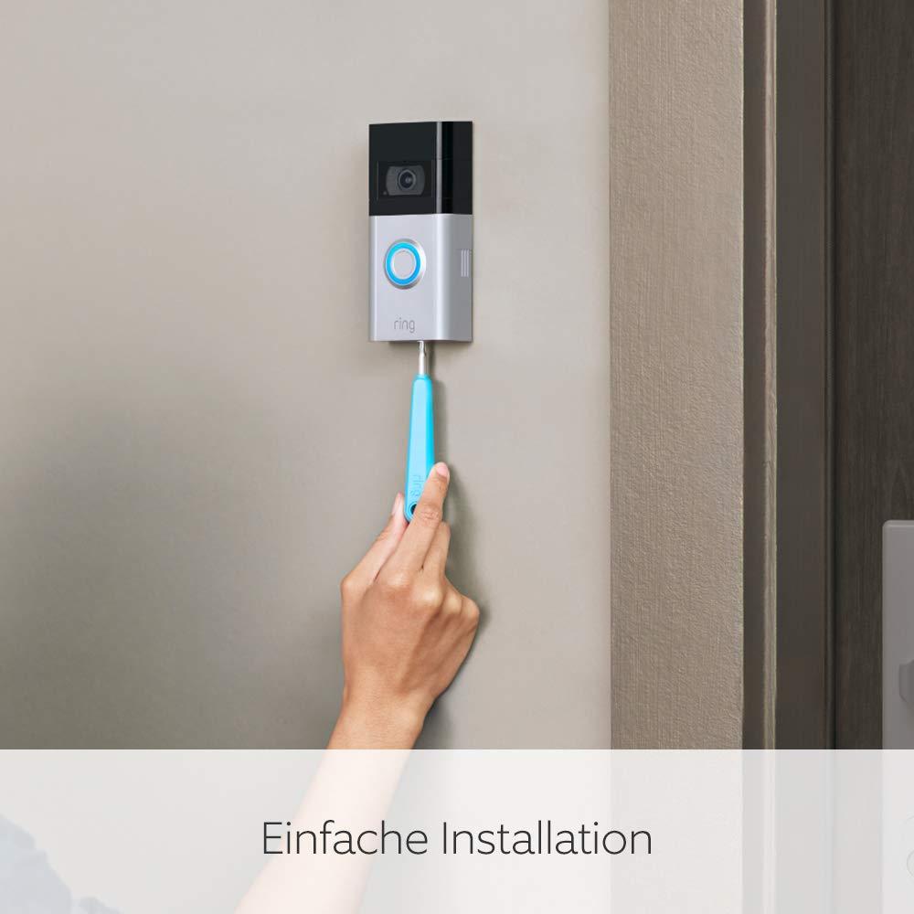 Die neue Ring Video Doorbell 4 von Pre-Roll-Videovorschau in Farbe Mit kostenlosem 30-t/ägigen Testzeitraum f/ür Ring Protect HD-Video mit Gegensprechfunktion Akkubetrieb