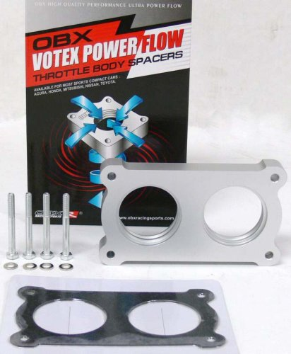Gt Throttle Body (OBX Votex PowerFlow Throttle Body Spacer 05-07 Ford Mustang GT V8 4.6L)