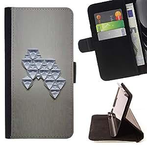 Momo Phone Case / Flip Funda de Cuero Case Cover - Estructura del arte abstracto de la figura - Sony Xperia M2