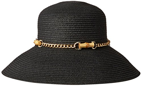 Gottex Women's San Remo Toyo Packable Sun Hat Rated, Black, One Size