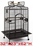 Extra Large 32 X 23 X 62H Open Play Dome Top Bird Parrot Wrought Iron Cage For Large Bird Larger Image