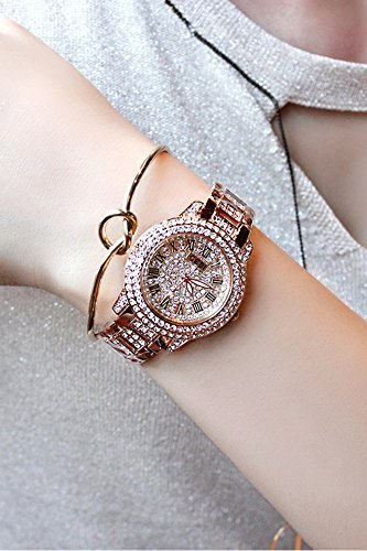 Generic [Send] G new diamond bracelet ladies watch luxury retro Roman numerals fashion women girl form (Roman Goddess Makeup)