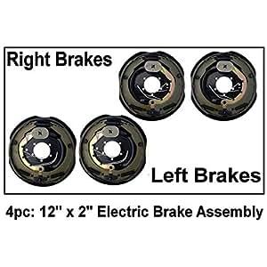 """Electric remolque freno Asamblea 12""""X 2"""" derecho y izquierda 520060007000lb Libra brakes- ejes"""