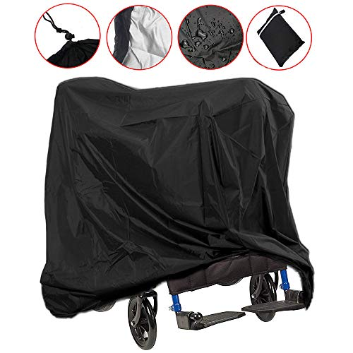 (Wheelchair Cover, Mobility Scooter Storage Cover Lightweight Waterproof Storage Rain Protector from Dust Dirt Snow Rain Sun Rays - 67 x 24 x 46 inch (L x W x H))
