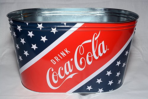 Coca Cola Metal Picnic Beverage Bucket