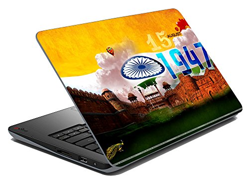 meSleep India 1947 Laptop Skin Notebook Skin Sticker Cover Art Decal Fits 14.1 inches to 15.6 inches