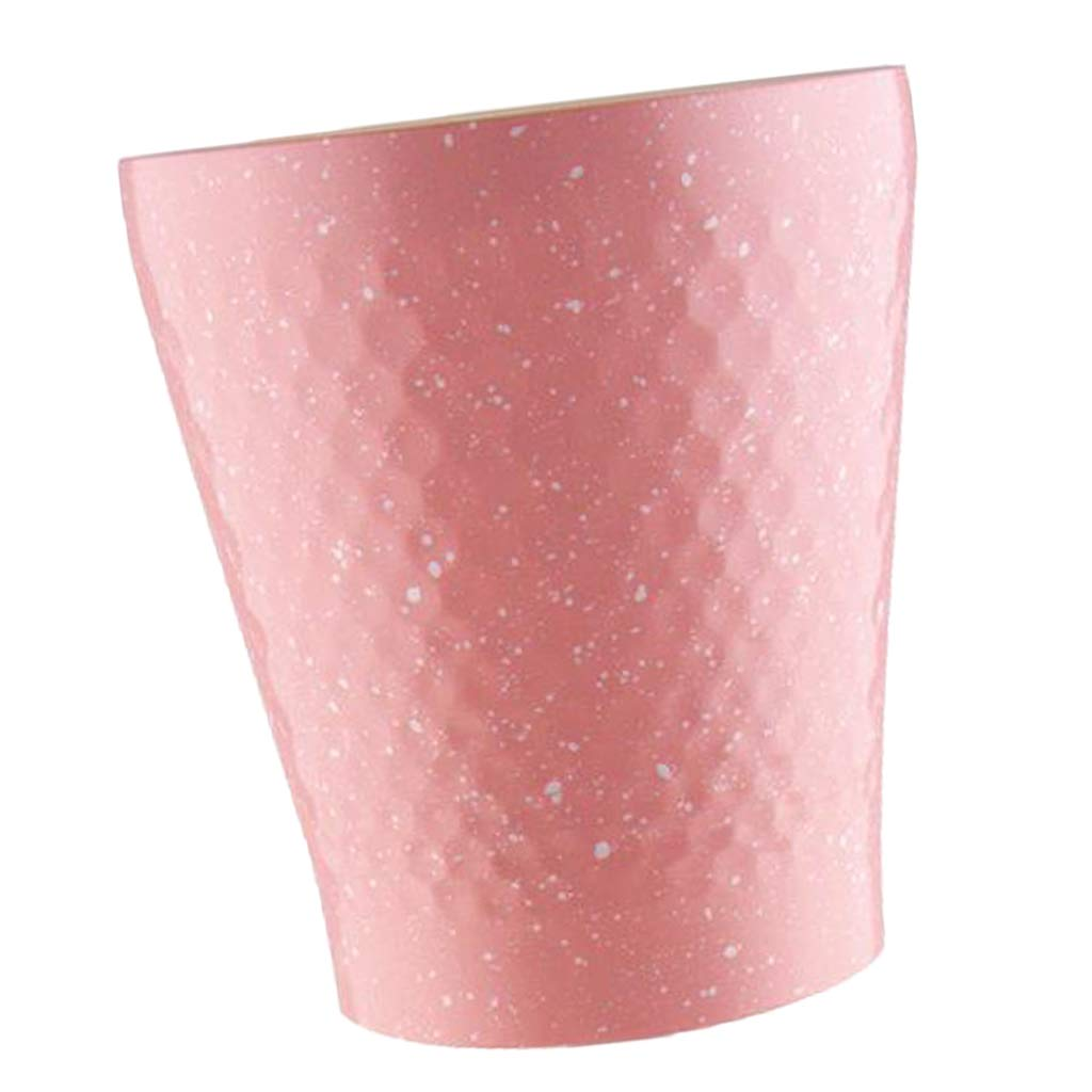 Prettyia Stainless Steel Insulated Tumbler Double Wall Travel Mug Water Coffee Cup for Ice Drink & Hot Beverage, Travel Outdoor Camping Drinking Cup - Pink