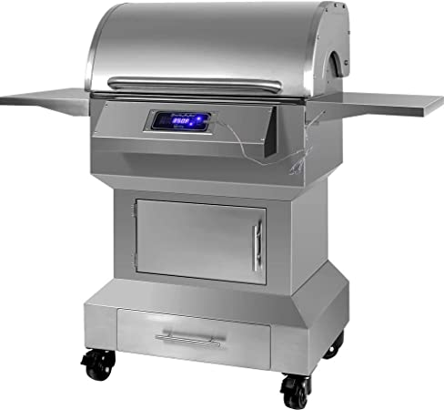Amazon Com Smoke N Hot Stainless Steel 304 Wood Pellet Grill And Smoker Digital Temperature Control System Accommodating Rotisserie 654 Sq Inch Cooking Area Large 23 Lbs Hopper Garden Outdoor