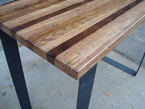 Amazon.com: Wood Bar Table High Top Kitchen Table Pub Table ...