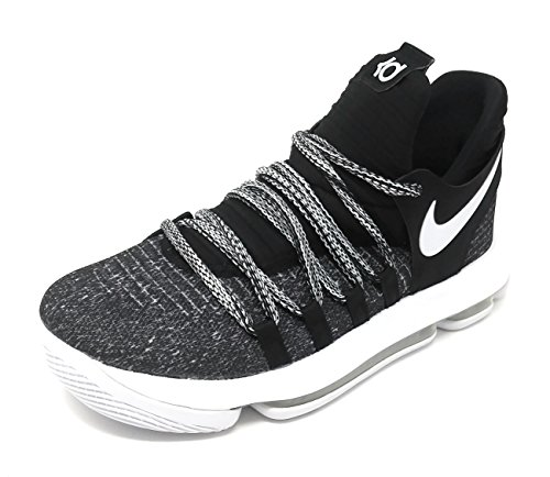 Nike Zoom KD10 B07CBBWK1H (GS) Basketball Shoes (7 M US Big Kid, Black/White) by Nike (Image #1)