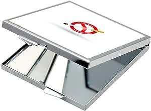 مرآة جيب، بطبعة ممنوع التدخين، شكل مربع