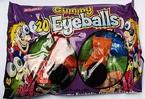 Gummy Eyeballs Gummi Halloween Candy (20 Indvidually Wrapped Eyeballs)
