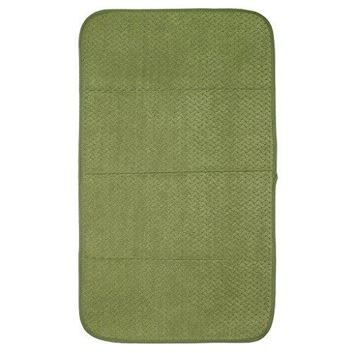 "Premium All-Clad Dual Surface, Reversible Dish Drying Mat for the Kitchen Counter, #1 Absorbent Drying Pad, 16"" x 28"", Sage Green"
