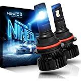 NINEO 9007 LED Headlight Bulbs CREE Chips,12000Lm 5090Lux 6500K Extremely Bright All-in-One Conversion Kit,360 Degree Adjustable Beam Angle