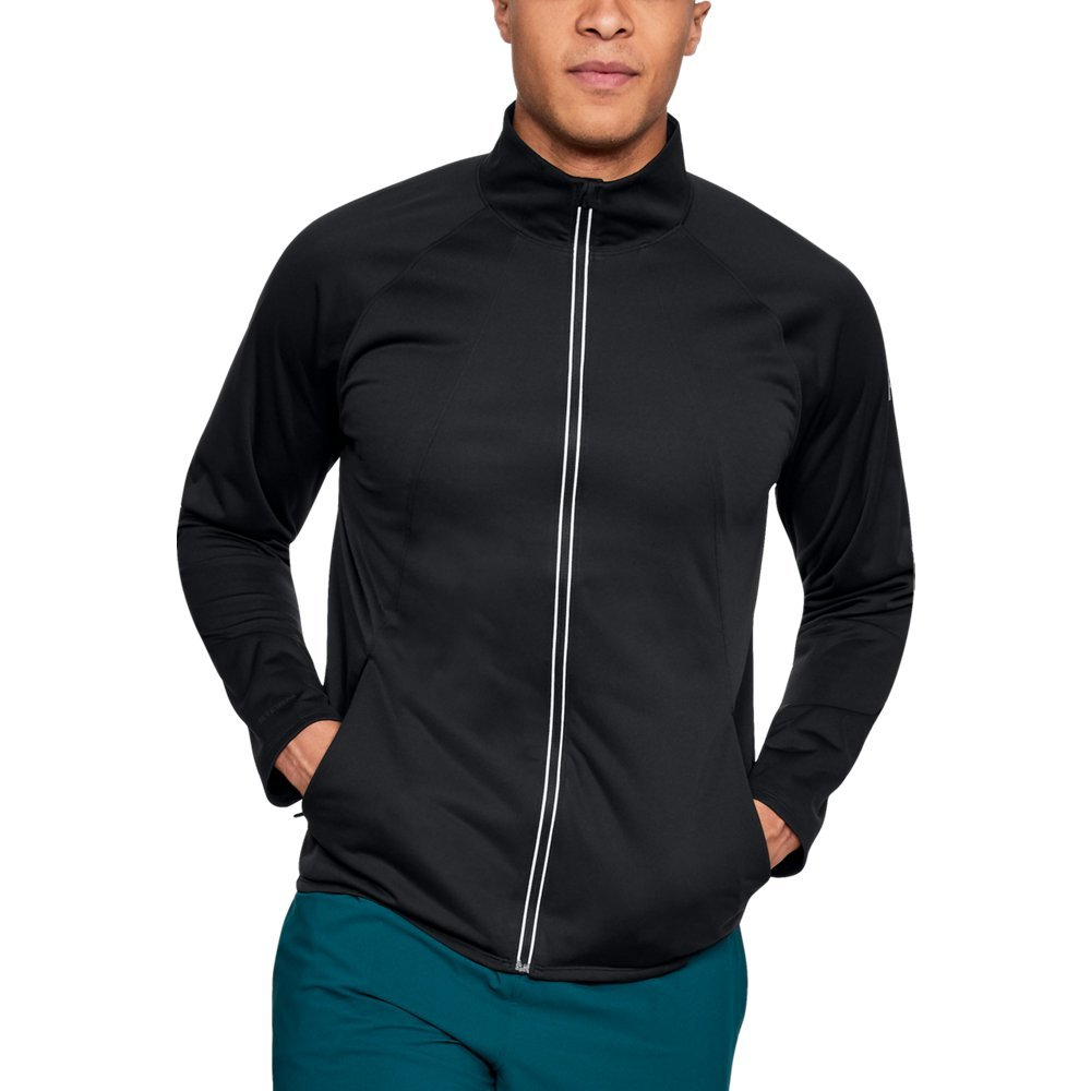Under Armour Men's Storm ColdGear Reactor PickUpThePace Jacket,Black (001)/Reflective, Medium by Under Armour (Image #1)