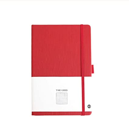 Tapa dura cuadriculada A5 Grid Elastic Band Notebook Journal ...