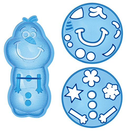 (Skater character curry character pilaf Gohangata vegetables die-cut three-piece set Olaf Ana and The Snow Queen Disney LCR3)