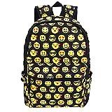 Best Emoji Backpacks For Kids - Emoji Kids School Canvas Backpack Smiling Face Satchel Review