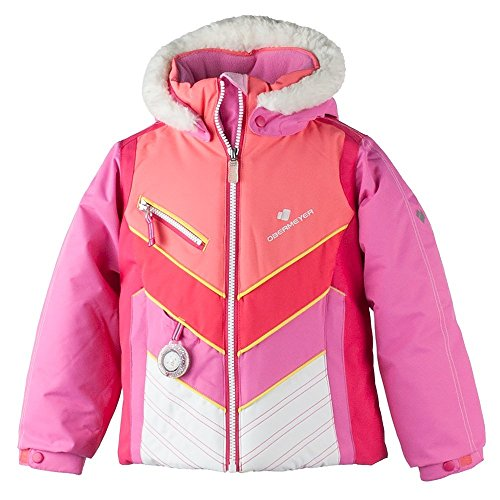 Obermeyer Kids Baby Girl's Sierra Jacket with Fur (Toddler/Little Kids/Big Kids) Peony Pink 3T ()