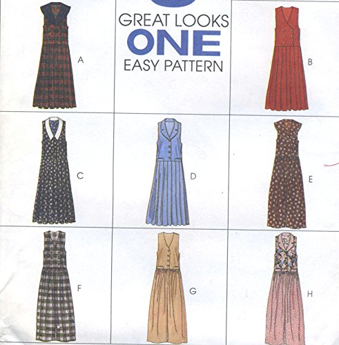 (Misses Pleated Jumpers Gathered Jumpsuits Sewing Pattern McCall 7240 Size 12-14-16 Eight Looks Easy )