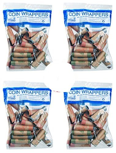 Assorted Coin Preformed Crimped Wrappers, 36 per Bag-2 Bundle / Retail Use, Durable Craft Paper