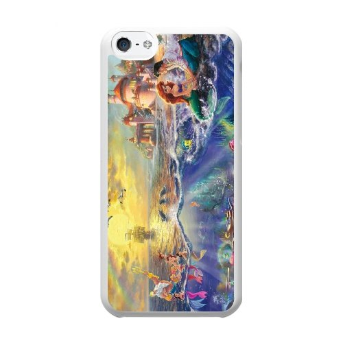Coque,Coque iphone 5C Case Coque, Thomas Kinkade Little Mermaid Sn Paper Cover For Coque iphone 5C Cell Phone Case Cover blanc