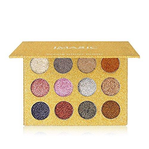 CCbeauty Metallic Eyeshadow Palette Glitter Eye Makeup Diamond Eye Shadow Long Lasting&Shimmer Eyeshadow Highly Pigmented Eyeshadow Palette (#01)