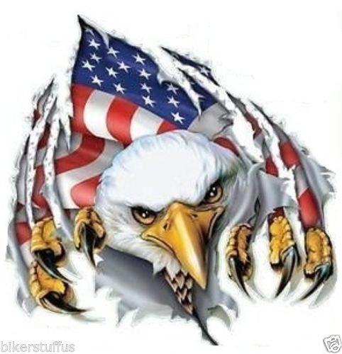 AMERICAN FLAG EAGLE STICKER HELMET STICKER BUMPER STICKER LAPTOP STICKER CELLPHONE STICKER