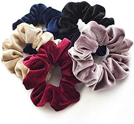 20Pcs chouchous 40 Assortis Balock Lot de 40 chouchous en Velours /élastiques pour Cheveux pour Femme ou Fille Accessoires Cheveux