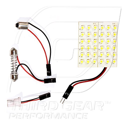 Optix TGP White 36 LED SMD Panel Light Bulb for Dome Light Application 2002-2012 Mitsubishi Lancer (ALL)