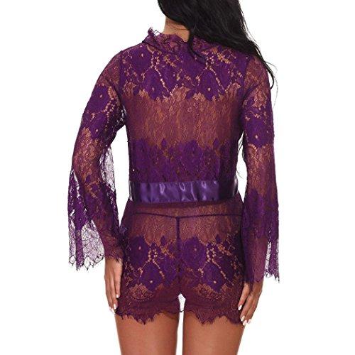 Moda er Aimee7 Conjuntos Ropa Kimono Mujer Bajo sexy Encaje Albornoces de dormir o Ropa Vestido Transparente interior Dormitorio Ba 00Urq