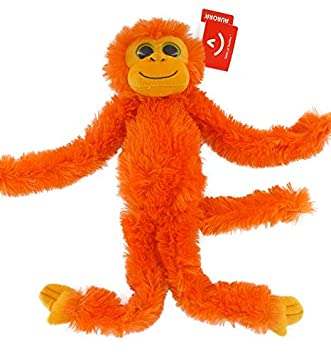 "19"" Bright Orange Colourful Hanging Chimp ..."