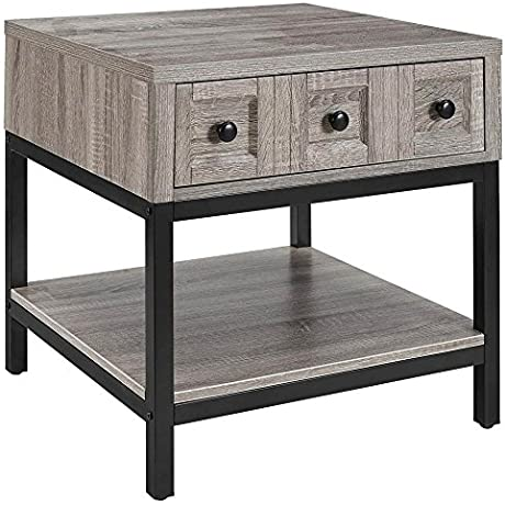 End Table In Sonoma Oak Finish