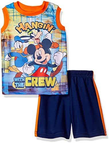 Disney Toddler Boys' Mickey Mouse Short Set with Tank Tee
