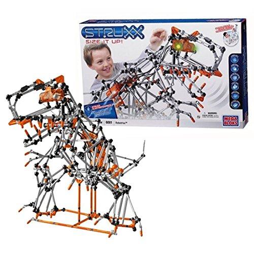 Mega Bloks Year 2008 Struxx Size It Up! Series #6001 - ROBOTRIXX with Light, Sound, Motion, Motion Detection, Gear & Building Block Compatibility (Piece: 625) (6001 Series)