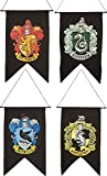 Bundle - 4 items: Harry Potter Gryffindor Slytherin Hufflepuff Ravenclaw House Wall 4 Banner Set
