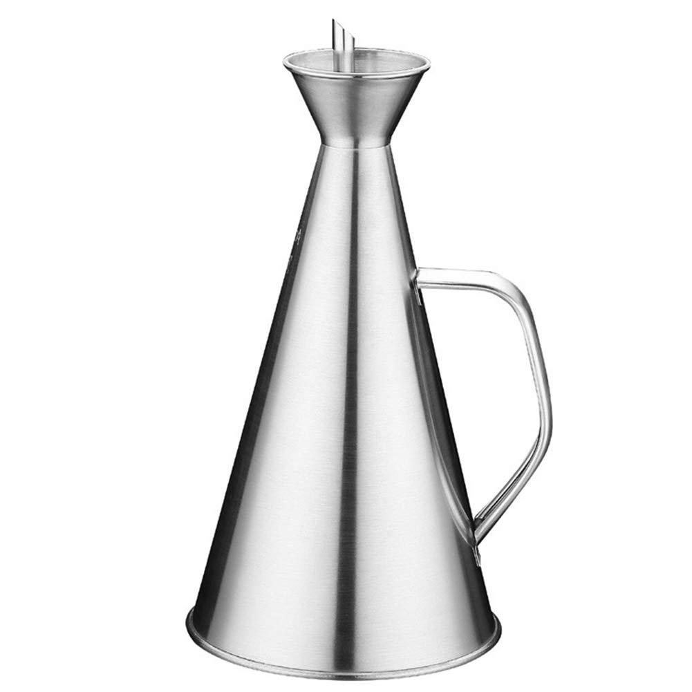 Stainless Steel Olive Oil Dispenser 17Oz Olive Oil Can Drip Free Oil Vinegar Leak Proof Cruet for Kitchen Storage Pot Tools(Silver) by DEYE