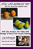 Acrylics Still Life Fruit Painting 101 Oranges & Pears