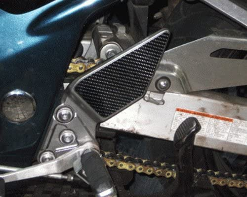 JOllify Carbon Heel Protector Pads Cover for Suzuki GSF 1200/S Bandit WVA9/2001-2005/JCC088a
