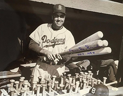 DUKE SNIDER (Brooklyn Dodgers authentic autographed signed 407 HR's 11x14 photo - Autographed MLB Photos