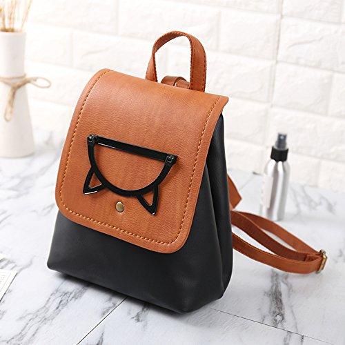 Black Women Leather Backpack Girls Mini Daypack Small PU Bag Casual School Backpack Fashion q4RZxwqB