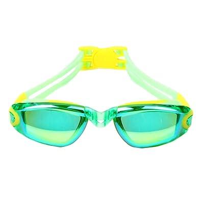 Objectifs de galvanoplastie Vert Lunettes Lunettes de natation pour les enfants