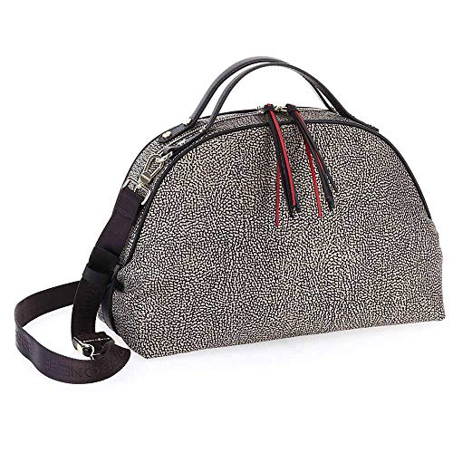 Bag A Borbonese Marrone Borsa Sexy Mano Nylon Medium In FqxApxIw