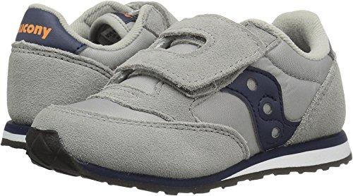 Saucony Jazz Hook & Loop Sneaker (Toddler/Little Kid), Grey/Navy, 9 M US Toddler