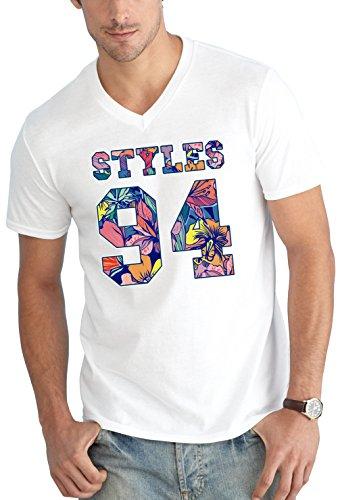 Styles 94 Flowers V-Neck White Certified Freak